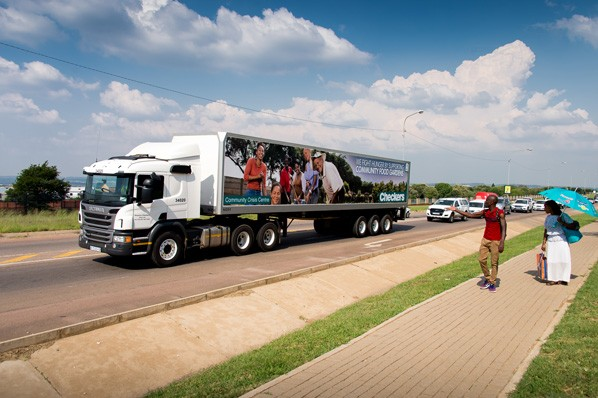 Community Crisis Centre - Community heroes featured on our fleet of trucks