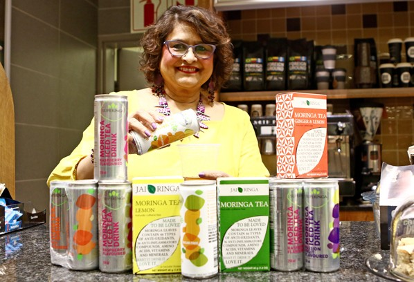 Jenny Maharaj with some of her Moringa-products.