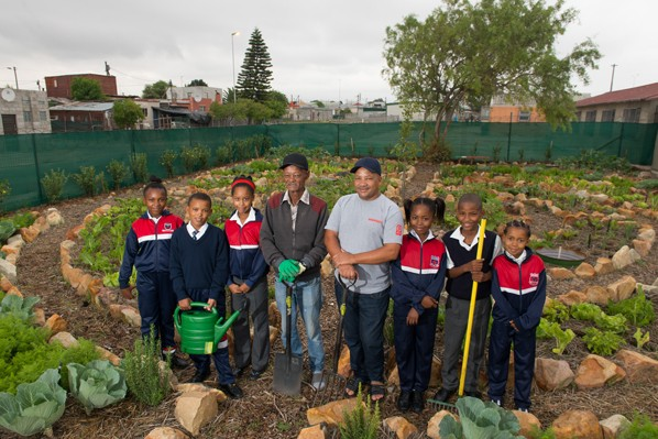 Rainbow Primary School vegetable garden acknowledged