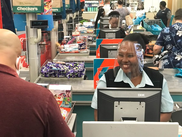 The Shoprite Group is providing its employees with plastic face shields