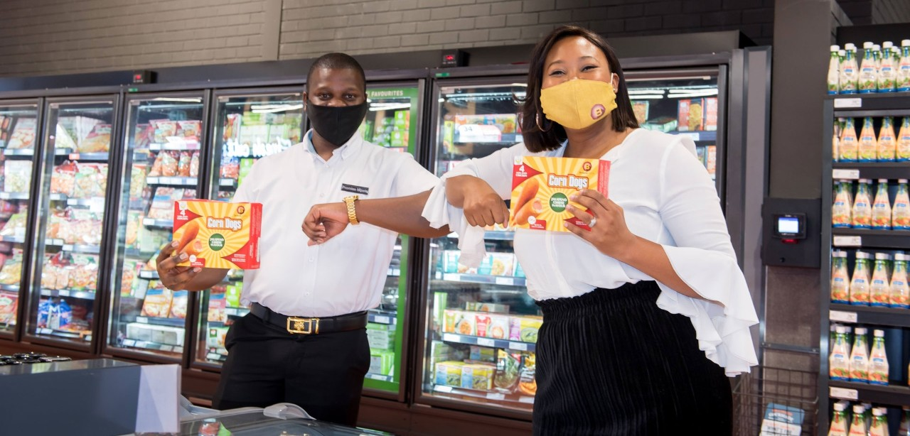 Shoprite Group buyer Promise Mpele and Mabel Akinlabi, co-founder of Browns Foods