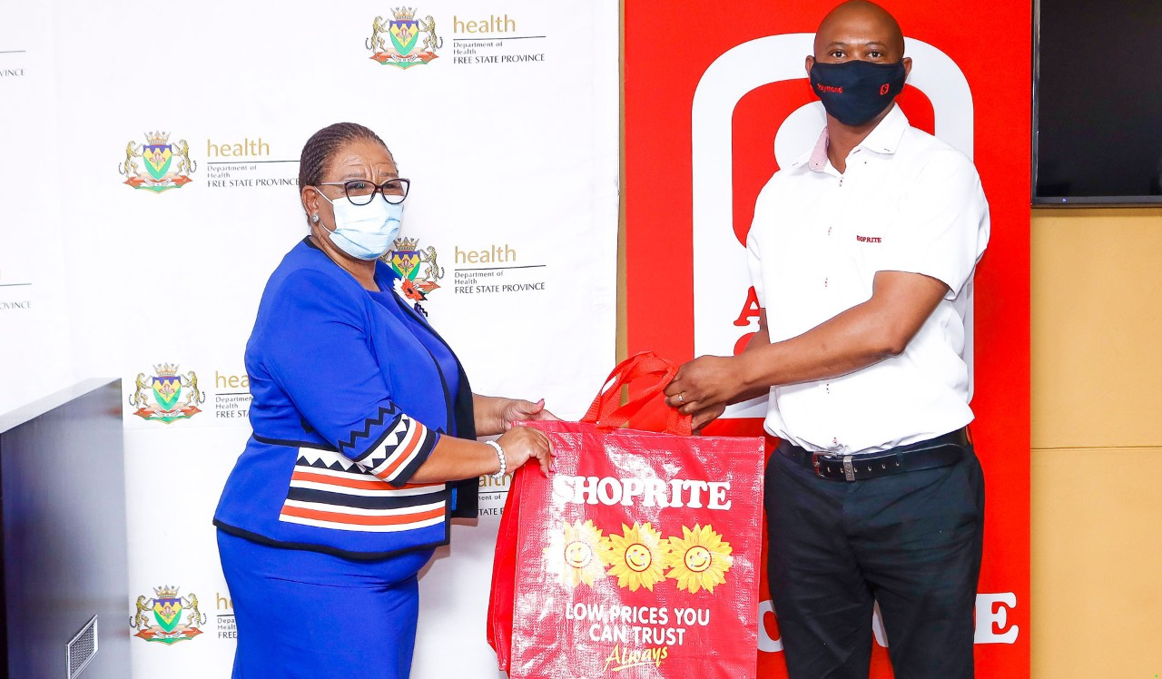 Shoprite donates care packages to the Free State Department of Health for COVID-19 patients