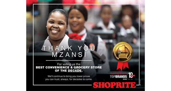 Shoprite voted top grocery store in SA for the past decade