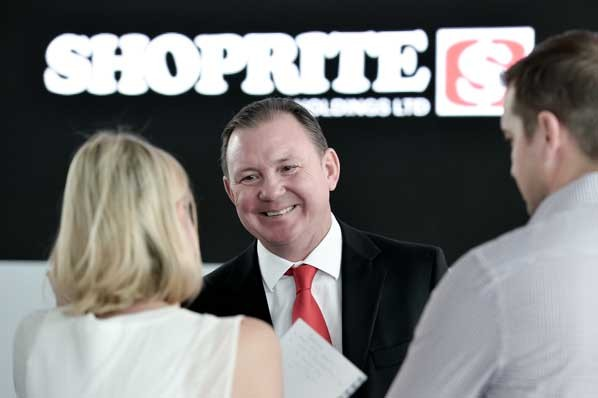 PHOTO: Pieter Engelbrecht, Shoprite chief executive officer, at the FY2020 Interim Results Presentation