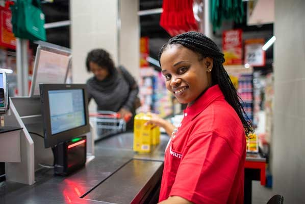 PHOTO: A warm and friendly smile from one of Shoprite's cashiers