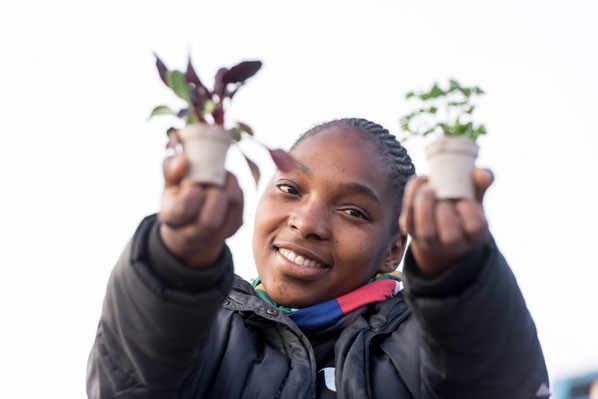 Dephney Uguelo, one of 156 people who were employed locally by the Little Garden 2 project