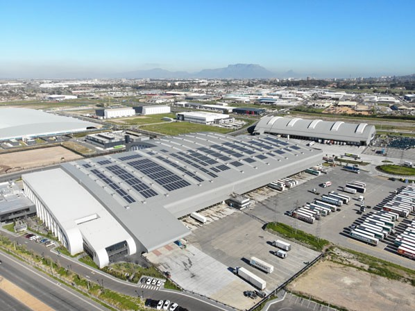 Solar photovoltaic panels at the Basson distribution centre in the Western Cape.